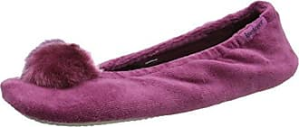 Pom Pom Ballet Slippers - Chaussons Bas - Femme - Multicolour (Animal W/Coral) - Taille: L (38/39 EU)Isotoner