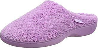 Isotoner Ladies Popcorn Mule Slippers, Zapatillas de Estar por Casa para Mujer, Blanco (White WHI), 39 EU
