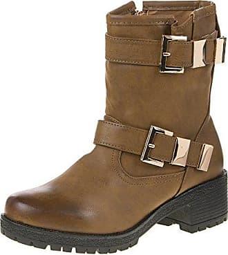 Ital-Design Damen Schuhe, JH16256-1, Boots, Lederoptik Stiefeletten, Synthetik in Hochwertiger Lederoptik, Schwarz, Gr 41