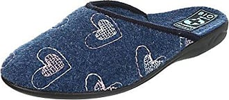 Ital-Design Hausschuhe Damen-Schuhe Pantoffeln Pantoffel Freizeitschuhe Dunkelblau, Gr 38, 19449-