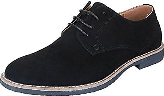 Schnürschuhe Herren Schuhe Oxford Blockabsatz Moderne Schnürsenkel Ital- Design Halbschuhe Schwarz, Gr 40, 849d225d28