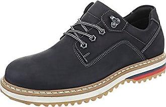 Schnürschuhe Herren Schuhe Oxford Moderne Schnürsenkel Ital-Design Halbschuhe Camel, Gr 44, 62005-