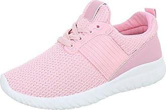 Ital-Design Sneakers Low Damen-Schuhe Schnürsenkel Freizeitschuhe Weiß, Gr 40, Pp-24-