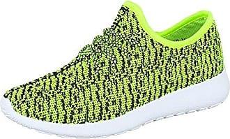 Ital-Design Sportschuhe Damen-Schuhe Geschlossen Sneakers Schnürsenkel Freizeitschuhe Pink, Gr 38, 6022-Y-
