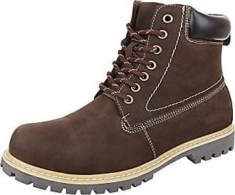 Stiefeletten Herren Schuhe Desert Boots Blockabsatz Moderne Schnürsenkel Ital-Design Boots Schwarz, Gr 41, 62009-