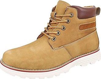 Stiefeletten Herren Schuhe Desert Boots Moderne Schnürsenkel Ital-Design Boots Schwarz, Gr 44, 62006-