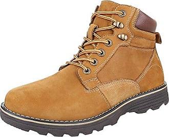 Stiefeletten Herren Schuhe Desert Boots Moderne Schnürsenkel Ital-Design Boots Schwarz, Gr 42, 62013-