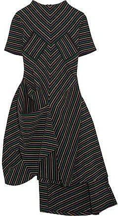 J.w.anderson Woman Strapless Asymmetric Two-tone Crepe Peplum Dress White Size 12 J.W.Anderson
