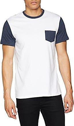 Jacamo CONTRAST SLEEVE WITH POCKET - T-shirt imprimé - white/navy