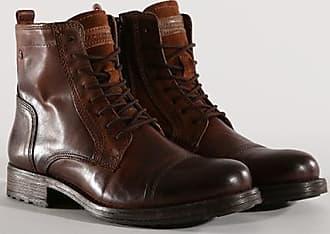 Marly - Bottines épaisses en cuir avec doublure chaude - Marron - MarronJack & Jones