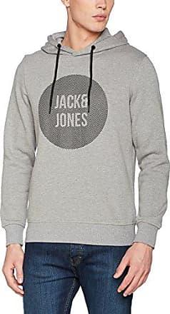 Jcopete Sweat Zip Baseball Neck Noos, Sudadera para Hombre, Gris (Light Grey Melange Fit:Reg), Medium Jack & Jones