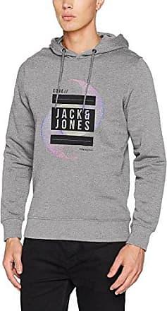 Jcoada Sweat Hood, Capucha para Hombre, Gris (Light Grey Melange Fit:Reg J&j Print), Small Jack & Jones
