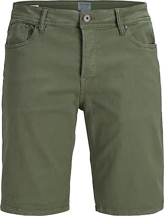 Chino-Shorts aus beschichtetem Jeansstoff mit Print Vivance