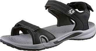 Jack Wolfskin Lakewood Cruise Sandal Schwarz-Grau, Damen Sandale, Größe EU 37 - Farbe Ebony Damen Sandale, Ebony, Größe 37 - Schwarz-Grau