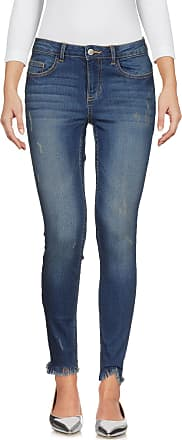 Albany Destroyed Hem Straight Jeans - Blue Jacqueline de Yong