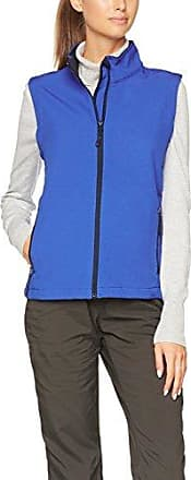 James & Nicholson Ladies Promo Softshell Vest, Chaleco para Mujer, Gris (Iron-Grey/Red Iron-Grey/Red), 42 (Talla del Fabricante: XL)