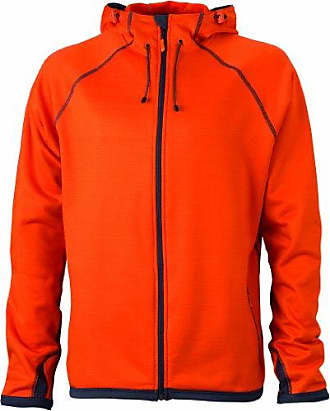 JN595, Sudadera, Hombre, Naranja (Dark-Orange/Carbon), X-Large James & Nicholson