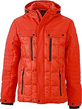 Mens Padded Jacket, Chaqueta para Hombre, Rojo (Red Red), XXL James & Nicholson