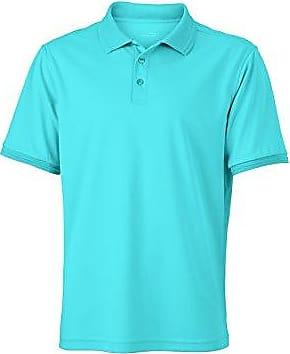 JAMES & NICHOLSON Workwear Polo pour homme XXXL Bleu - aqua