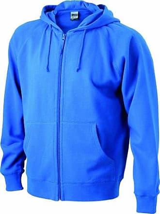 Sweat - Chaqueta para hombre, tamaño S, color azul James & Nicholson