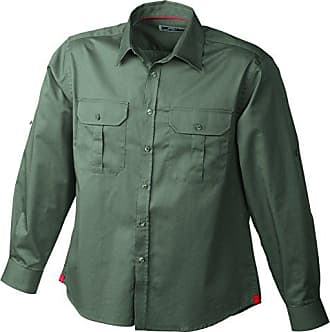 Mens Travel Shirt Roll-Up Sleeves, T-Shirt de Sport Homme, Gris (Chalk Chalk), MJames & Nicholson