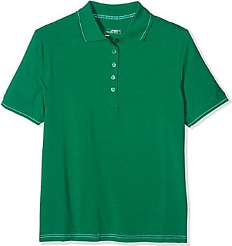 JAMES & NICHOLSON Polo Flag - Polo Homme, Vert (irishgreen/white) - Large (Taille fabricant: Large)