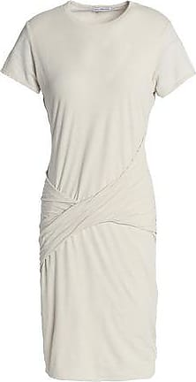 James Perse Woman Two-tone Cotton And Linen-blend Jersey Mini Dress Off-white Size 1 James Perse