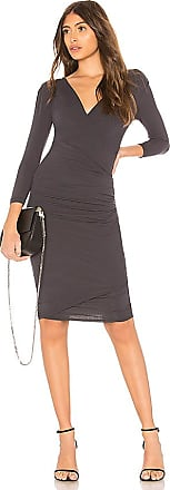 Skinny Wrap Dress in Black. - size 0 (XXS/XS) (also in 1 (XS/S),2 (S/M),3 (M/L)) James Perse