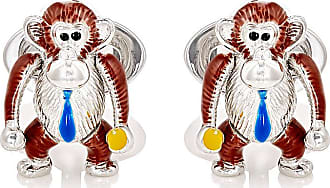 Jan Leslie Mens Moving Hula Girl Cufflinks