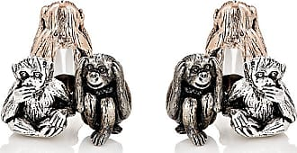 Jan Leslie Mens Three-Wise-Monkeys Cufflinks