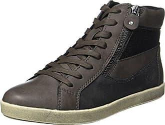 CLA191 - Zapatillas Altas de Cuero Mujer, Color Gris, Talla 36 EU Gola