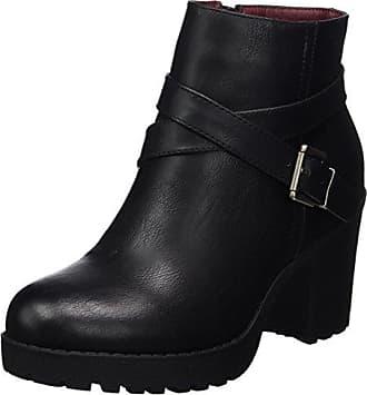 Bella, Botas Biker para Mujer, Negro (Velvet Black), 38 EU Shoe Biz
