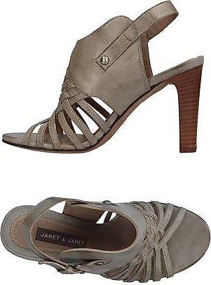 Sandals for Women On Sale, Silver, Leather, 2017, 2.5 3.5 5.5 7.5 8.5 Janet & Janet