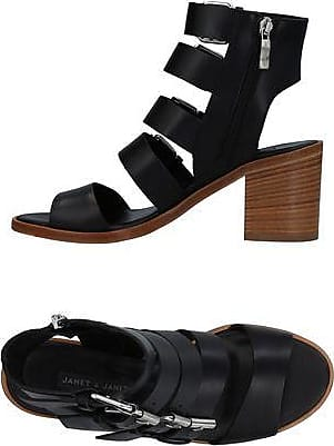 Sandals for Women On Sale, Black, Leather, 2017, 4.5 Janet & Janet
