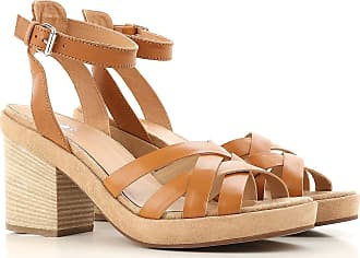 Sandals for Women On Sale, Gold, Leather, 2017, 3.5 5.5 6.5 Janet & Janet