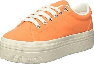 Le Temps des Cerises Basic 02 Basic 02_Orange (Mandarine) - Zapatillas de deporte de tela para mujer, color naranja, talla 37