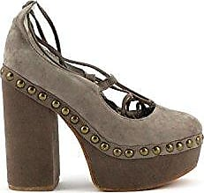 Jeffrey Campbell Scarpa Bettina Taupe Kid Suede
