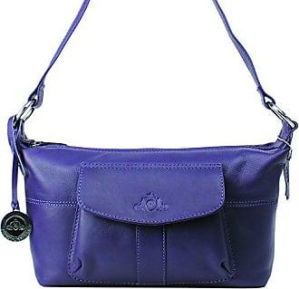 Damenhandtasche, Leder, praktisch, (purple) Jenes & Jandura