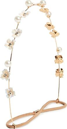 Amelie Gold-plated, Crystal, Swarovski Pearl And Enamel Hair Slide - one size Jennifer Behr