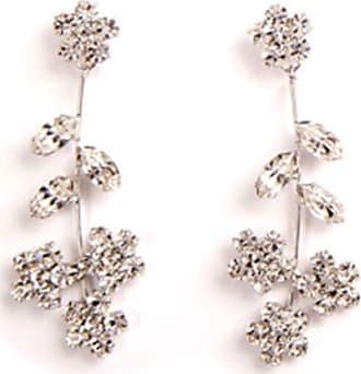 Jennifer Behr Violet Dangle Earrings, Clear