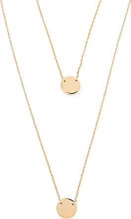 Jennifer Zeuner Asturia Double Necklace in Metallic Gold