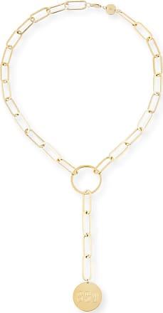 Jennifer Zeuner Marla Jumbo Lariat Monogram Necklace