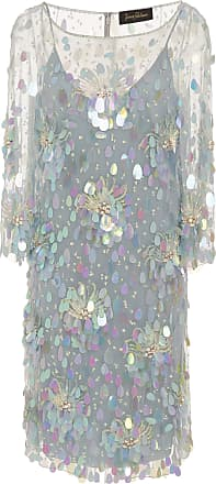Amur 3/4 Sleeve Sequin Knee Length Dress Jenny Packham