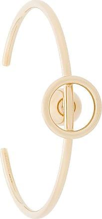 bead and hoop bangle - Metallic Jil Sander