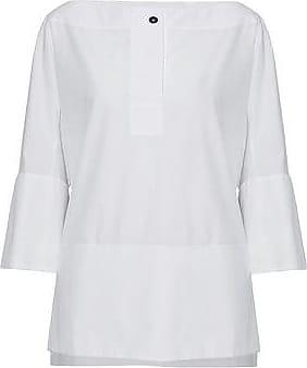 Jil Sander Woman Draped Cutout Crepe Top White Size 38 Jil Sander