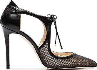 black vanessa 100 leather and mesh pumps - Nero Jimmy Choo London