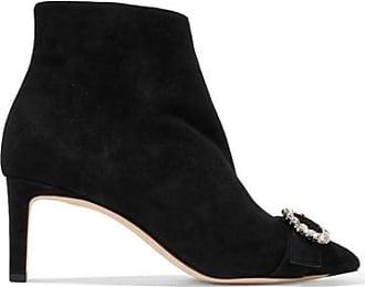 100 Embellished Suede Ankle Boots - Black Jimmy Choo London