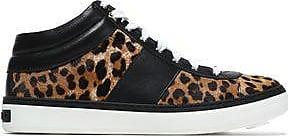 Jimmy Choo Woman Bells Leopard-print Calf Hair And Leather Sneakers Animal Print Size 36.5 Jimmy Choo London