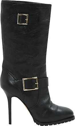 Pre-owned - Black Leather Boots Jimmy Choo London