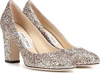 Sneaker calfskin smooth leather textile Glitter Metallic silver Jimmy Choo London